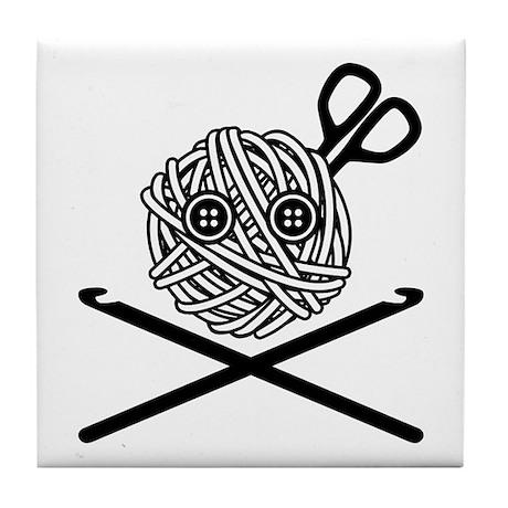 Pirate Crochet Tile Coaster