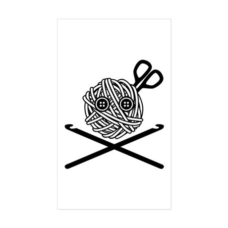 Pirate Crochet Sticker (Rectangle 50 pk)