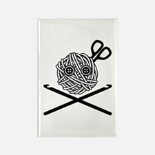 Pirate Crochet Rectangle Magnet
