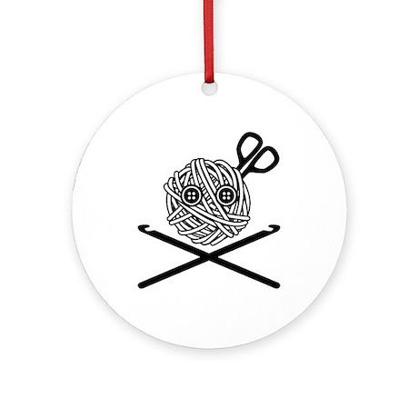 Pirate Crochet Ornament (Round)