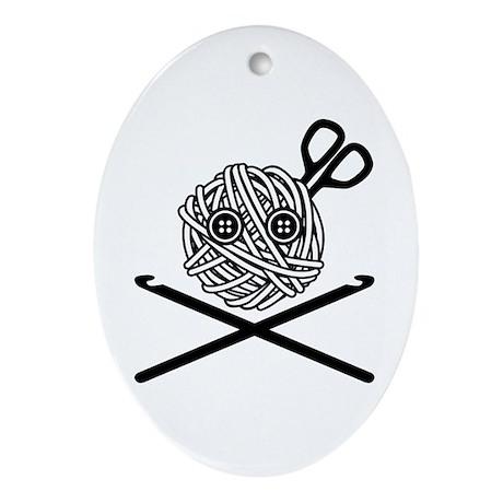 Pirate Crochet Ornament (Oval)