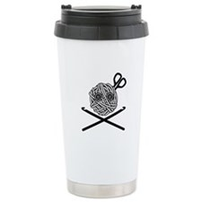 Pirate Crochet Ceramic Travel Mug