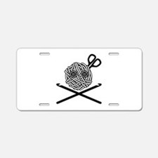 Pirate Crochet Aluminum License Plate