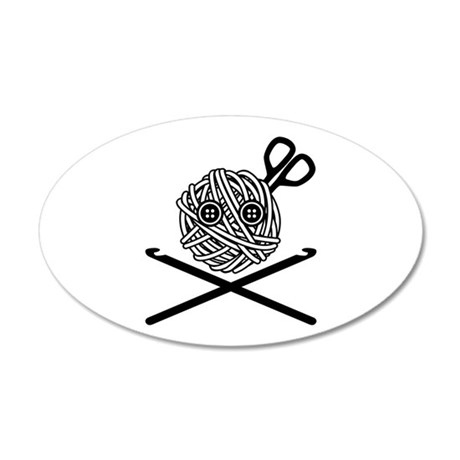 Pirate Crochet 35x21 Oval Wall Decal