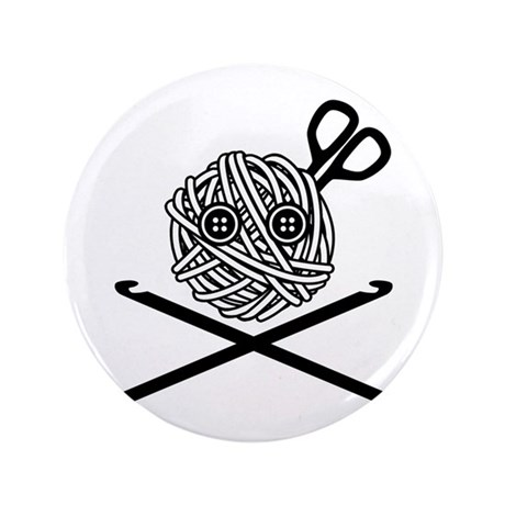 "Pirate Crochet 3.5"" Button (100 pack)"