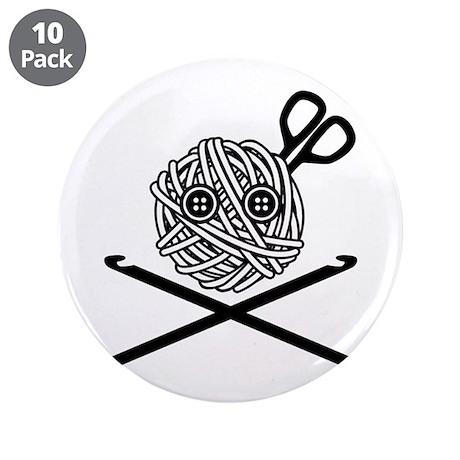 "Pirate Crochet 3.5"" Button (10 pack)"