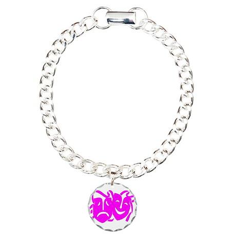 Pink Masks Charm Bracelet, One Charm