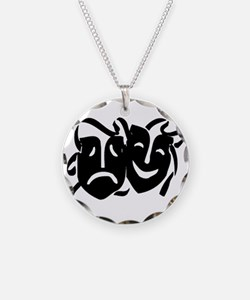 Black Masks Necklace