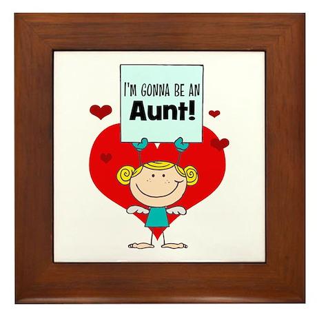 I'm Gonna Be An Aunt Framed Tile