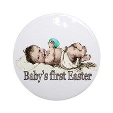 Nostalgic Baby's First Easter Ornament (Round)