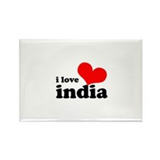 I Love India Rectangle Magnet (10 pack)