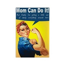 Mom as Rosie the Riveter Rectangle Magnet
