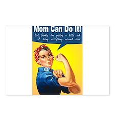 Mom as Rosie the Riveter Postcards (Package of 8)