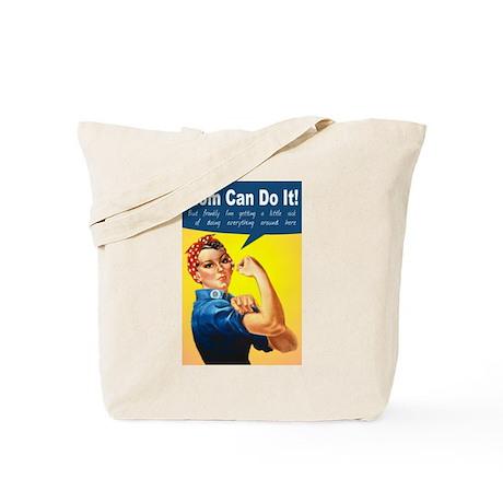 Mom as Rosie the Riveter Tote Bag