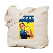 Mom as Rosie the Riveter Tote Bag