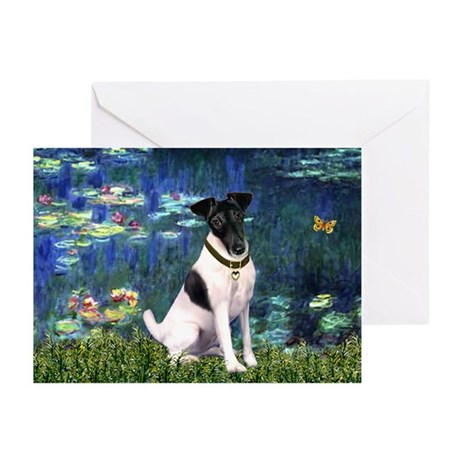 Fox Terrier (#1) & Lilies Greeting Cards (Pk of 10