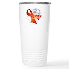 Husband Leukemia Ribbon Travel Mug