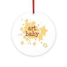 ART baby (stars) Ornament (Round)