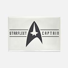 Starfleet Captain Rectangle Magnet