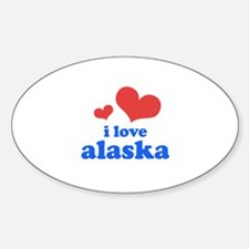 I Love Alaska Decal