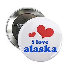 """I Love Alaska 2.25"""" Button"""
