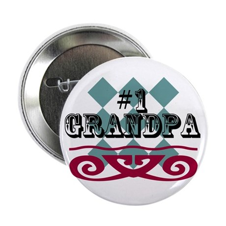 """Number One Grandpa 2.25"""" Button"""