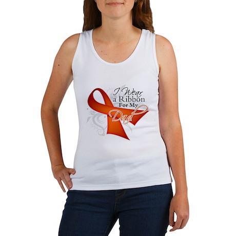 Dad Leukemia Ribbon Women's Tank Top