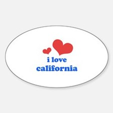 I Love California Decal