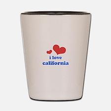 I Love California Shot Glass