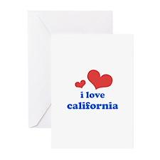 I Love California Greeting Cards (Pk of 10)