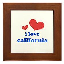 I Love California Framed Tile