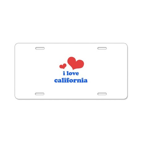 I Love California Aluminum License Plate
