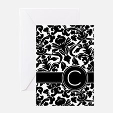 Monogram Letter C Greeting Card
