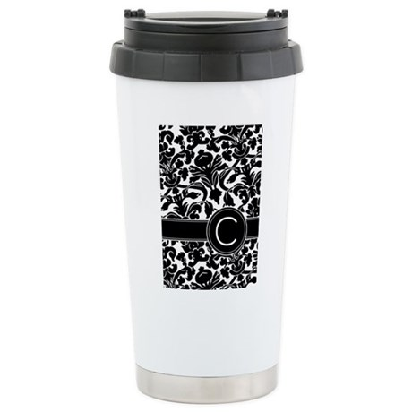 Monogram Letter C Stainless Steel Travel Mug