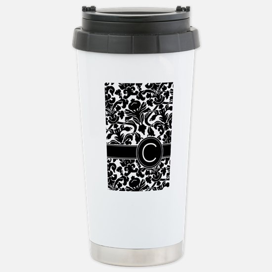 Monogram Letter C Stainless Steel Travel Mug