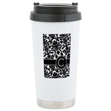 Monogram Letter C Travel Mug