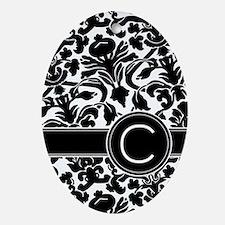 Monogram Letter C Ornament (Oval)