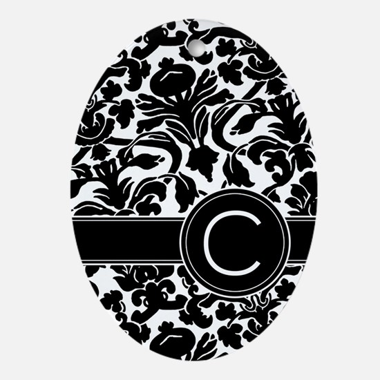 Monogram Letter C Ornament (Oval)