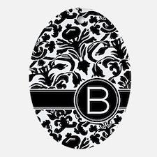 Monogram Letter B Ornament (Oval)