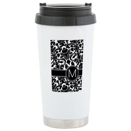 Monogram Letter M Stainless Steel Travel Mug