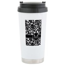 Monogram Letter M Travel Coffee Mug
