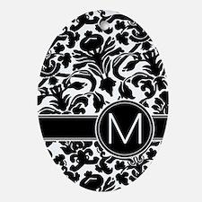 Monogram Letter M Ornament (Oval)