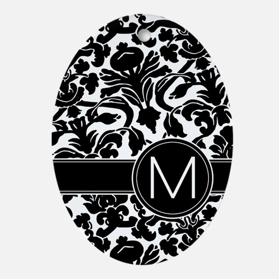 Monogram Letter M Ornament (Oval)