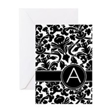 Monogram Letter A Greeting Card