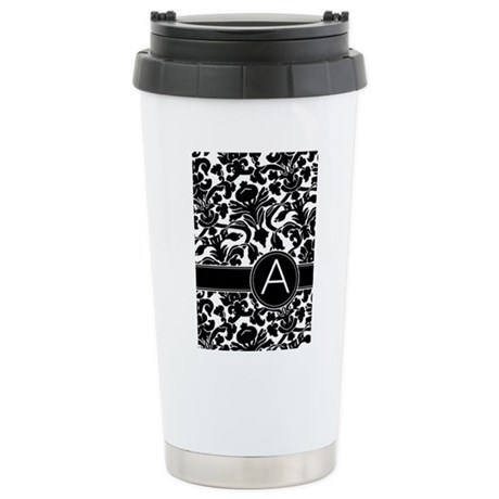 Monogram Letter A Stainless Steel Travel Mug