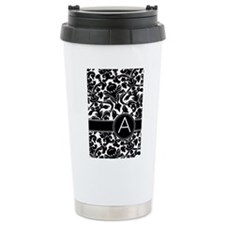 Monogram Letter A Travel Mug