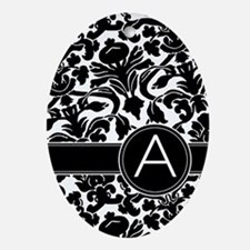 Monogram Letter A Ornament (Oval)