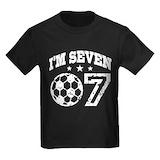 7 birthday Kids T-shirts (Dark)