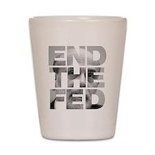 End the Fed Bernanke Shot Glass