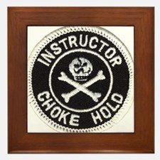 Choke Hold Instructor Framed Tile